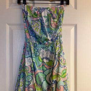 Multi Conch Republic Windsor Strapless Dress
